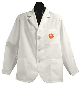 Clemson University White Short Labcoats