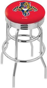 Florida Panthers NHL Ribbed Double-Ring Bar Stool