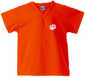 Clemson University Kid's Orange Scrub Tops