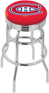 Montreal Canadien NHL Ribbed Double-Ring Bar Stool