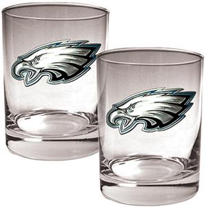 NFL Philadelphia Eagles 14oz Rocks Glass Set of 2