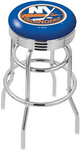 New York Islanders NHL Rib Double-Ring Bar Stool