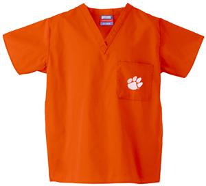 Clemson University Orange Classic Scrub Tops