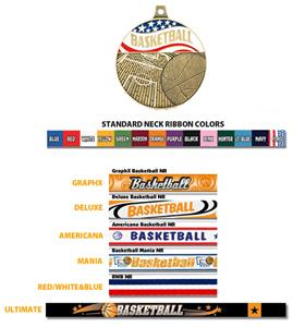 "Hasty Awards 2.25"" Americana Basketball Medals"
