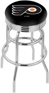 Philadelphia Flyers NHL Rib Double-Ring Bar Stool