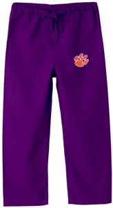 Clemson University Kid's Purple Scrub Pants
