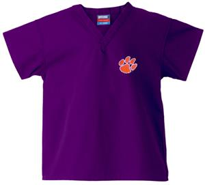Clemson University Kid's Purple Scrub Tops