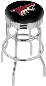 Arizona Coyotes NHL Ribbed Double-Ring Bar Stool