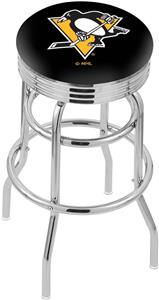 Pittsburgh Penguins NHL Rib Double-Ring Bar Stool
