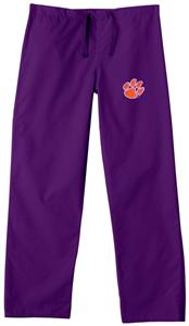 Clemson University Purple Classic Scrub Pants