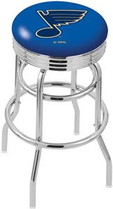 St Louis Blues NHL Ribbed Double-Ring Bar Stool