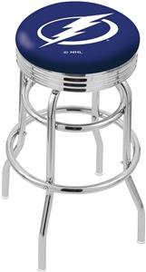 Tampa Bay Lightning NHL Rib Double-Ring Bar Stool