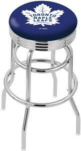 Toronto Maple Leafs NHL Rib Double-Ring Bar Stool