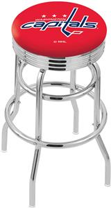 Washington Capitals NHL Rib Double-Ring Bar Stool