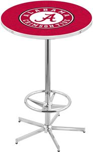 Holland Univ of Alabama Script A Chrome Pub Table
