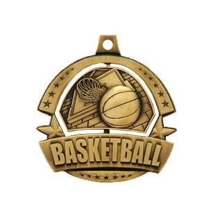 Hasty Awards Spinner Basketball Medals M-720B