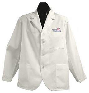 University of Cincinnati UC White Short Labcoats