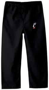 University of Cincinnati Kid's Black Scrub Pants