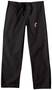 University of Cincinnati Black Classic Scrub Pants
