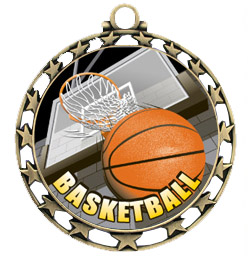 Hasty Awards 2.5&quot; Basketball HD Insert Medals