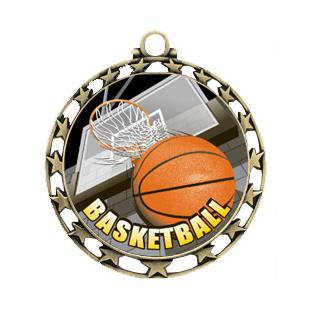 """Hasty Awards 2.5"""" Basketball HD Insert Medals"""