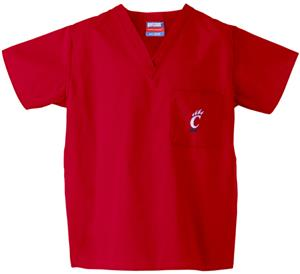 University of Cincinnati Red Classic Scrub Tops