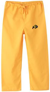Univ of Colorado Buffaloes Kid&#39;s Gold Scrub Pants