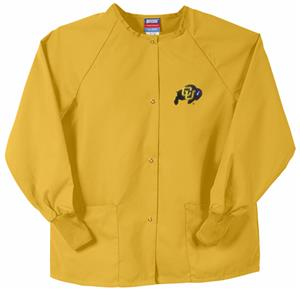 Univ of Colorado Buffaloes Gold Nursing Jackets