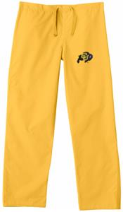 Univ of Colorado Buffaloes Gold Classic Scrub Pant