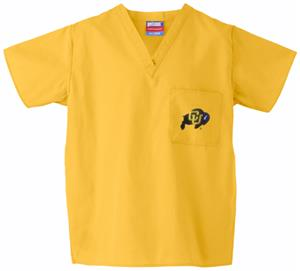 Univ of Colorado Buffaloes Gold Classic Scrub Tops