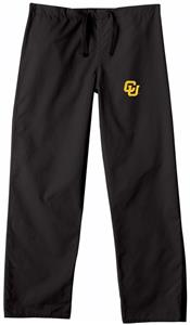 University of Colorado Black Classic Scrub Pant