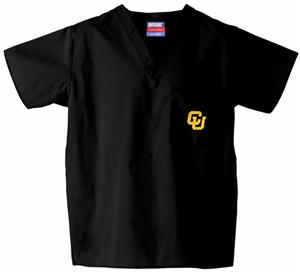 University of Colorado Black Classic Scrub Tops
