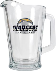 NFL San Diego Chargers 1/2 Gallon Glass Pitcher