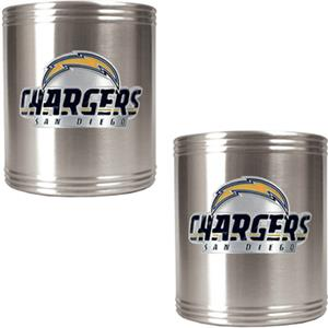 NFL San Diego Chargers Stainless Steel Can Holders