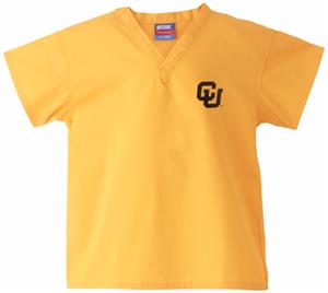 University of Colorado Kid's Gold Scrub Tops