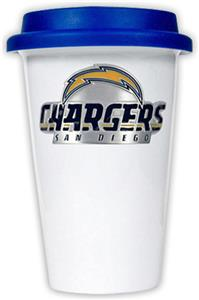 NFL San Diego Chargers Ceramic Cup with Blue Lid