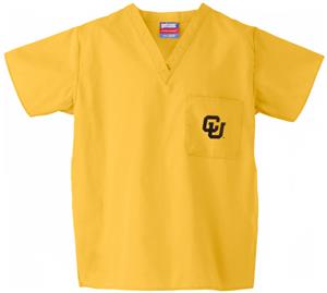 University of Colorado Gold Classic Scrub Tops
