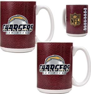 NFL San Diego Chargers Gameball Mug (Set of 2)