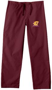 Central Michigan Univ Maroon Classic Scrub Pant