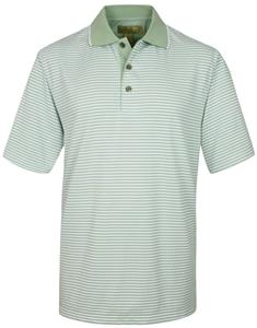 TRI MOUNTAIN Hammond Polyester Striped Golf Shirt