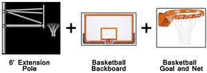 Create-Your-Own Vertical Basketball System-6' Ext