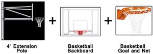 Create-Your-Own Vertical Basketball System-4' Ext