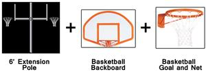 Create-Your-Own Back-To-Back Basketball System-6'