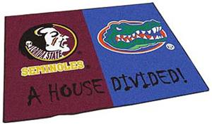 Fan Mats Seminoles/Florida House Divided Mat