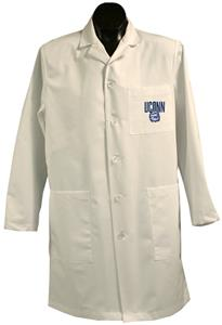 Univ of Connecticut Huskies White Long Labcoats