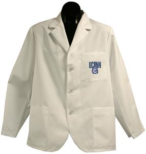 Univ of Connecticut Huskies White Short Labcoats