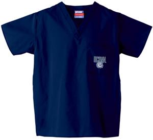 Univ of Connecticut Huskies Navy Scrub Tops