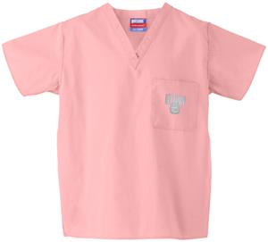 Univ of Connecticut Huskies Pink Scrub Tops