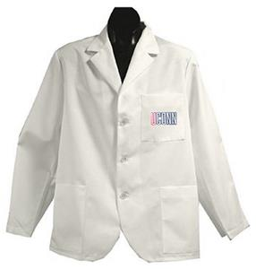 University of Connecticut White Short Labcoats