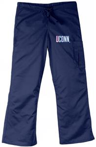 University of Connecticut Navy Cargo Scrub Pants